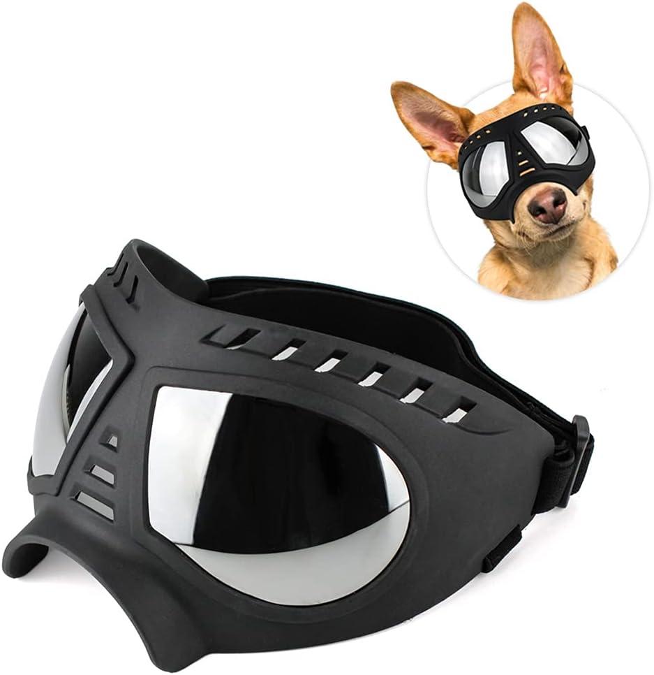 JUSTDOLIFE Gafas para Mascotas Color Sólido Protectoras Reutilizables Impermeables Decorativas Ajustables para Ojos De Perro Gafas De Sol para Perros Protección para Los Ojos