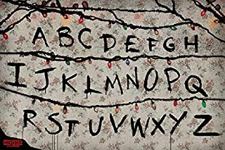 Stranger Things Alphabet Wall Run Poster, Size 24x36