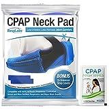 RespLabs Almohadilla para El Cuello de CPAP - Paño Grueso y Suave Reutilizable con 2 Cubiertas Universales para Correas de CPAP