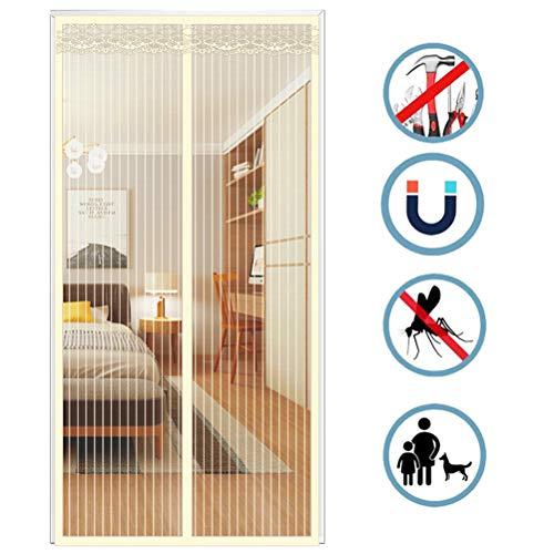 Airyyj Magnetisch horgordijn voor deuren, magische gordijnen, pasta, magnetisch, vliegen en insecten, voor anti-muggen