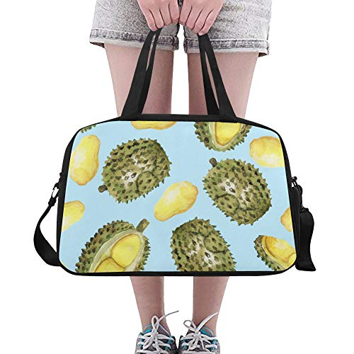 Mens Tote Bag Creative Sweet Colorful Fruit Durian Yoga Gym Totes Fitness Handbags Duffel Bags Shoe Pouch For Sport Luggage Womens Outdoor Training Duffel