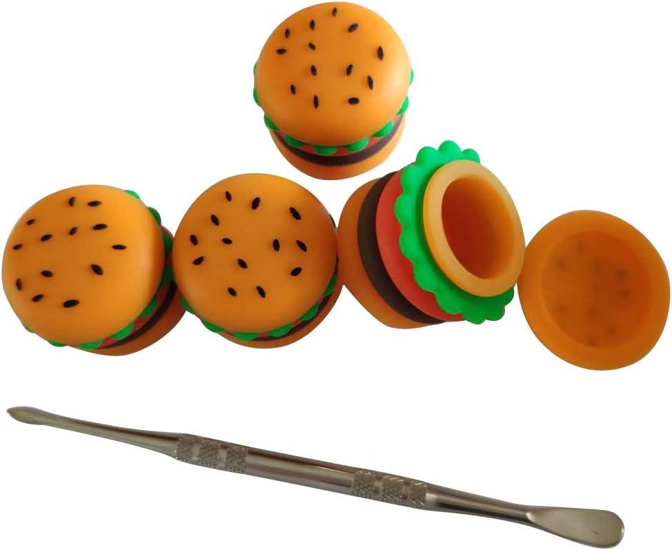 Gentcy Silicone 5ML Hamburger Jar Silicone Container Silicone Ja