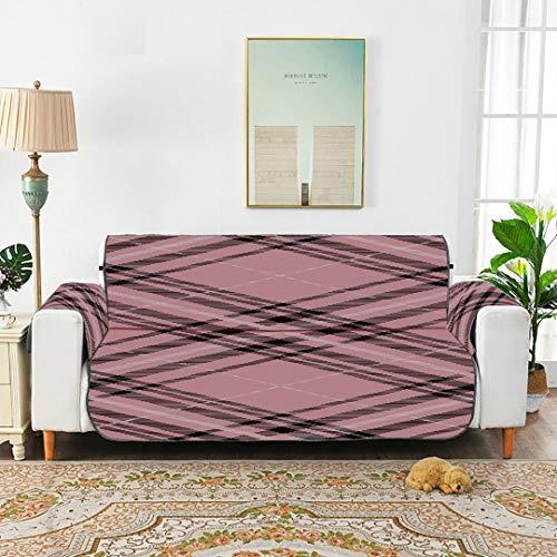 WYYWCY Tartan Muster schottischen traditionellen Stoff Nahtlose rosa Bezug Sofa dehnbar elastische Sofa Cover Sofa Recliner Cover 66