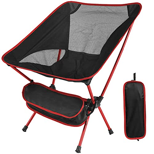 Folding Camping Chairs, LIKMIC Lightweight Portable Chairs Ultralight...