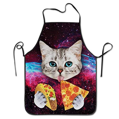 Cat Pizza picture Kitchen Chef Cooking Painting Funny Aprons For women and men