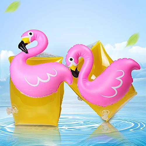 infinitoo Schwimmflügel Kinder Süße Flamingo Figur Schwimmhilfe für Baby Jungen Mädchen | auf Pool Party Strand Wasserpark im Sommer | Super Geschenk im Kindertag Wasserspielzeug | Schwimmen Halter