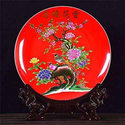 Sijkall Placas de Decoració del hogar Placa de Cena dedad Platos Decorativos de Parojo Placas artísticas de Porcelana para Colgar en la parojoSección de Arte