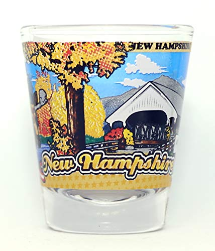 New Hampshire State Wraparound Shot Glass