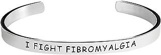 سوار التوعية من Herlica Fibromyalgia - I Fight Fibromyalgia - أساور مختومة مجوهرات هدايا المنتج للرجال / النساء