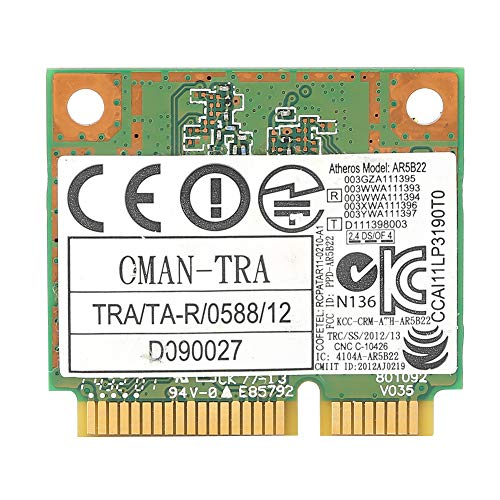 Mini PCI-E Built-in Wireless Network Card for Computers, 300MBPS High Transmission Speed WiFi Network Card, Dual Band, Compatible with XP/win7/win8/win10