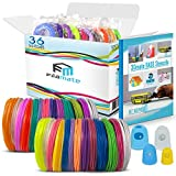 FilaMate 3D Pen Filament - 360 Feet of 1.75mm PLA Filament for 3D Pen - Try Out 36 Different Colors with These 3D Pen Refills Filament with +- 0.02mm Tolerance for Easy 3D Drawing