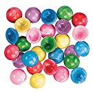 Mini Marbleized Rubber Poppers Toys - Bulk Set of 144 Pop Ups in Bright Marbleized Colors - Party Favors and Giveaways
