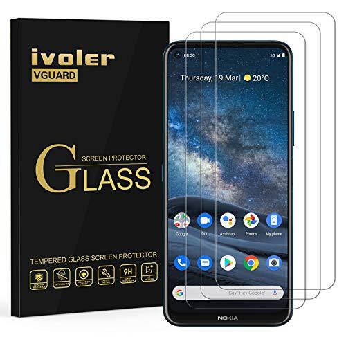 ivoler 3 Stücke Panzerglas Schutzfolie für Nokia 8.3 5G, Panzerglasfolie Folie Bildschirmschutzfolie Hartglas Gehärtetem Glas BildschirmPanzerglas Bildschirmschutz für Nokia 8.3 5G