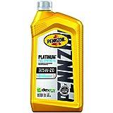 Pennzoil Platinum Full Synthetic 5W-20 Motor Oil (1-Quart, Single Pack), Silver