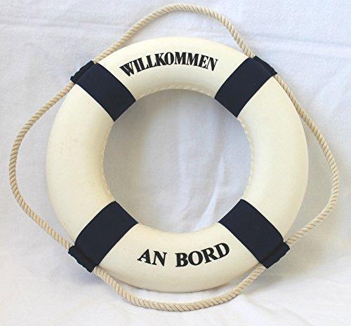 Rettungsringe Deko Willkommen an Bord blau-Weiss Ø 35cm