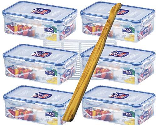 Lock&Lock Set HPL817TS6 6 x 1 l, 6 x Aufbewahrungsboxen Multifunktionsboxen, Frischhaltedosen