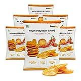 supplify Chips altamente proteiche/Snack Fitness–sostituto Proteine di siero di latte in polvere in 3 diversi aromi -