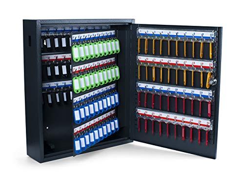 Pavo 8047215 Deluxe Schlüssel-Kasten/Schrank/Tresor, 150 Haken mit seitlichem Schlüsseleinwurf, dunkelgrau