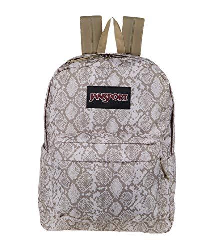 JanSport Superbreak Plus Backpack - School, Work, Travel, or Laptop Bookbag with Water Bottle Pocket, Classic Python