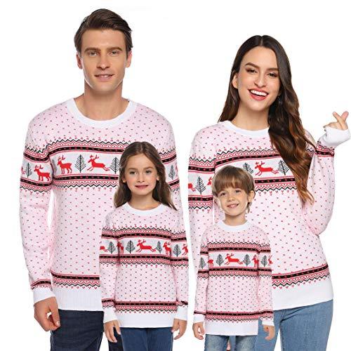 Logobeing Mono Pijama Navidad con Capucha Romper Jumpsuit Familia Pijamas Ropa de Dormir Traje de Navidad Jersey