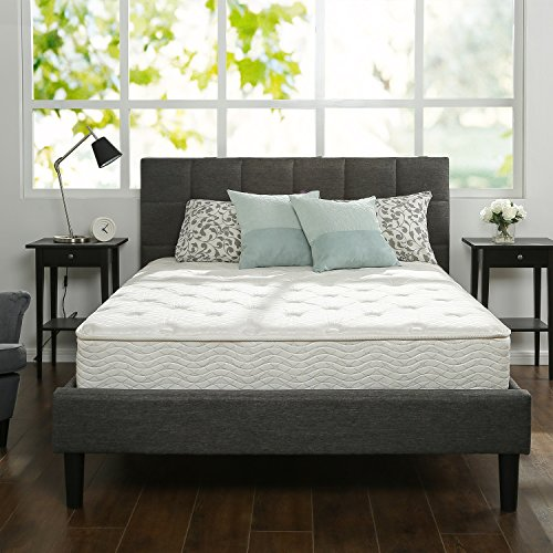 Zinus 10 Inch Hybrid Green Tea Foam and Spring Mattress, Full