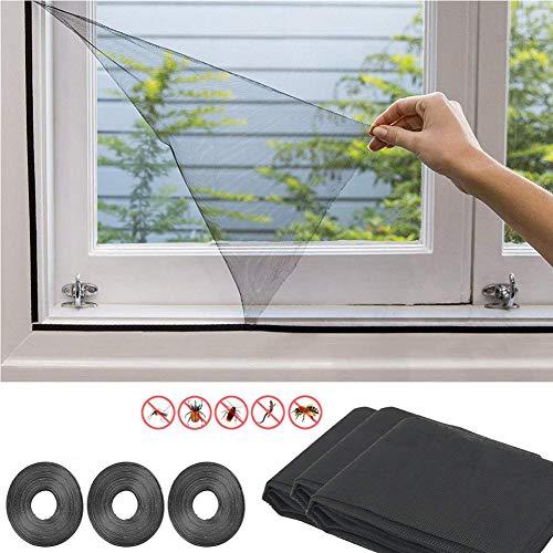 Fattigger 3pcs DIY unsichtbare transparente Fenster Insektenschutz Moskito-Schutznetz
