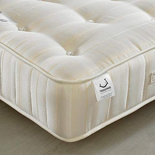 Orthopaedic Open Coil Spring, Happy Beds Supreme Ortho Firm Tension Mattress with Reflex Foam - 4ft6 Double (135 x 190 cm)
