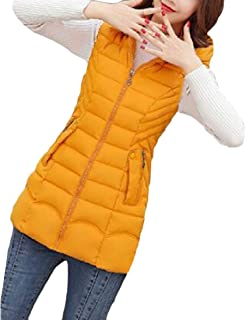 Macondoo Women's Casual Coat Sleeveless Quilted Outwear Hooded Warm Vest