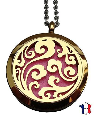 Bijou Pendentif Diffuseur de Parfum ou d'Huiles essentielles aux 4 couleurs. Fermoir magnétique; PE03 Livraison rapide avec suivi.