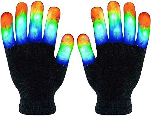 Led Gloves Finger Light Up Gloves Flashing Gloves Colorful Flashing Color Changing Gloves 3 product image