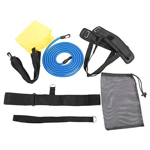 Sparkfire Swim Tether Stationary Swimming Kit, 3 in 1 Swim Training Belt, Swim Belts Swimming Resistance Belt, Ankle Bands, Parachute, Trainer Loop Swim Bungee Cords, Swim Static Harness