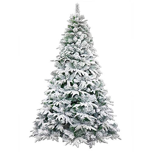 ALEKO CTS59H450 Deluxe Artificial Indoor Christmas Holiday Tree 5 Foot Snow Dusted