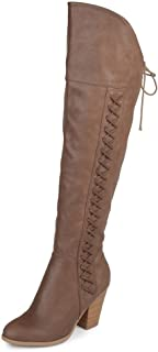Journee Collection Womens Regular and Wide Calf Faux Lace-up