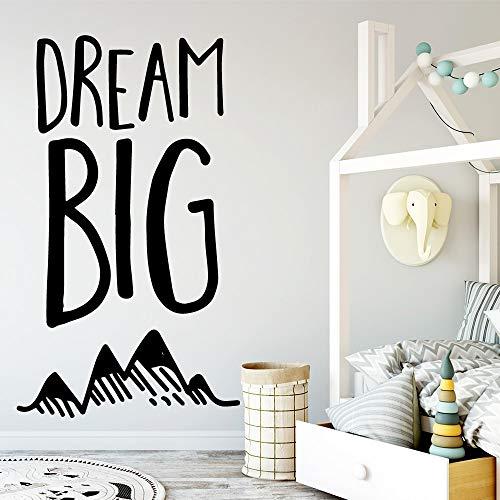 Etiqueta de la pared del gran sueño del envío de la gota, usada para la etiqueta engomada de la pared del mural del arte de la sala de estar del hogar A9 L 43x73cm
