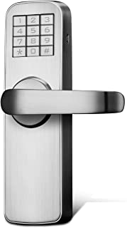 Manhaoya Electric Smart Door Lock intuitive Display Strong and Sturdy Smart Lock Front Door with Low Battery Alarm Function (Right-Hand)