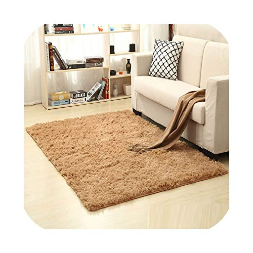 NanPing 200cm 300cm 13 Color Living Room/Bedroom Wool Rug Antiskid Soft Carpet Gray White Black Brown Pink purpule mat,Light Brown,120x200CM
