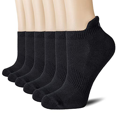 CelerSport Cushion No Show Tab Athletic Running Socks