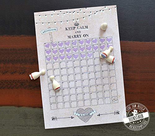 Hochzeitscountdown noch 100 Tage bis zur Hochzeit Verlobungsgeschenk Kalender zum Abstempeln