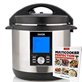 Zavor LUX LCD 6 Quart Multi-cooker with America's Test Kitchen Multicooker Perfection Cookbook, Stainless Steel