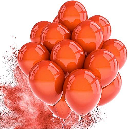 TK Gruppe Timo Klingler 50x Luftballons rot Ø 35 cm - Helium geeignet - Kein Plastik -100 % Bio & recyclebar - Deko Dekoration zur Befüllung mit Ballongas (rot)
