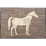 Waschbare Fußmatte - Cavallo - Pferd 50x75 cm Was