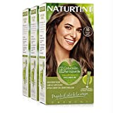 Naturtint Coloración. Tinte sin Amoniaco.100% Cobertura de Canas. Ingredientes Vegetales. Color Natural. 5G Castaño Claro Dorado. Pack de 3