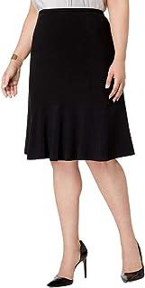 Women's Plus Size Flared Hem Skirt