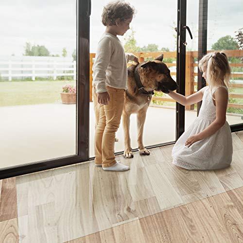 Bürostuhlunterlage Bodenschutzmatte | Bodenmatte Stuhlunterlage | Transparent | Stärke: 1,5 mm | Viele Größen zur Auswahl - Budget-Bodenschutzmatte für Hartböden (Länge: 100 cm, Breite: 80 cm)