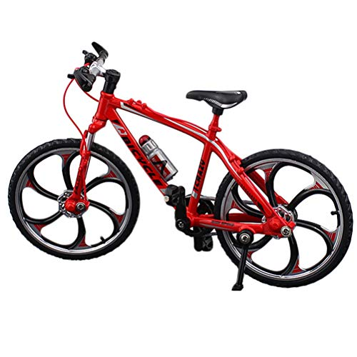Daxoon Mini Fahrradmodell 1:10 Metalldruckguss Finger Fahrrad Mountainbike Modell Spielzeug Geschenk für Puppenhaus