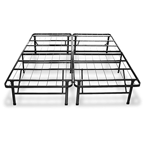 "Best Price Mattress 11"" Gel-Infused Memory Foam Mattress & 14-inch Premium Metal Bed Frame with Brackets + Bed Skirt Set - Queen"