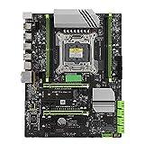 Placa Base X99 LGA2011-3 DDR4 Placa Base para computadora de Escritorio con 8 Puertos SATA2.0 y 1 Interfaz SSD M.2 para chipset Intel x99