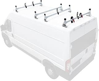 Steel H1 4 Bar Van Rack System for RAM ProMaster 2013-On White