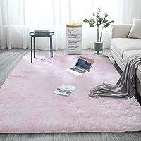 QFWN 2020現代ノルディックタイ染料グラデーションカーペットベッドルームリビングルーム長方形カーペットバリエットソフト快適なエリアカーペットグレー (Color : Light Pink, Size : 80x120cm(31.4x47in))