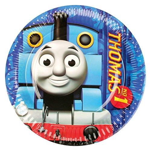 amscan 8 Teller * Thomas DIE LOKOMOTIVE * für Kindergeburtstag oder Mottoparty // Plates Pappteller Partyteller Lok